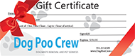 pet waste removal services gift certificate